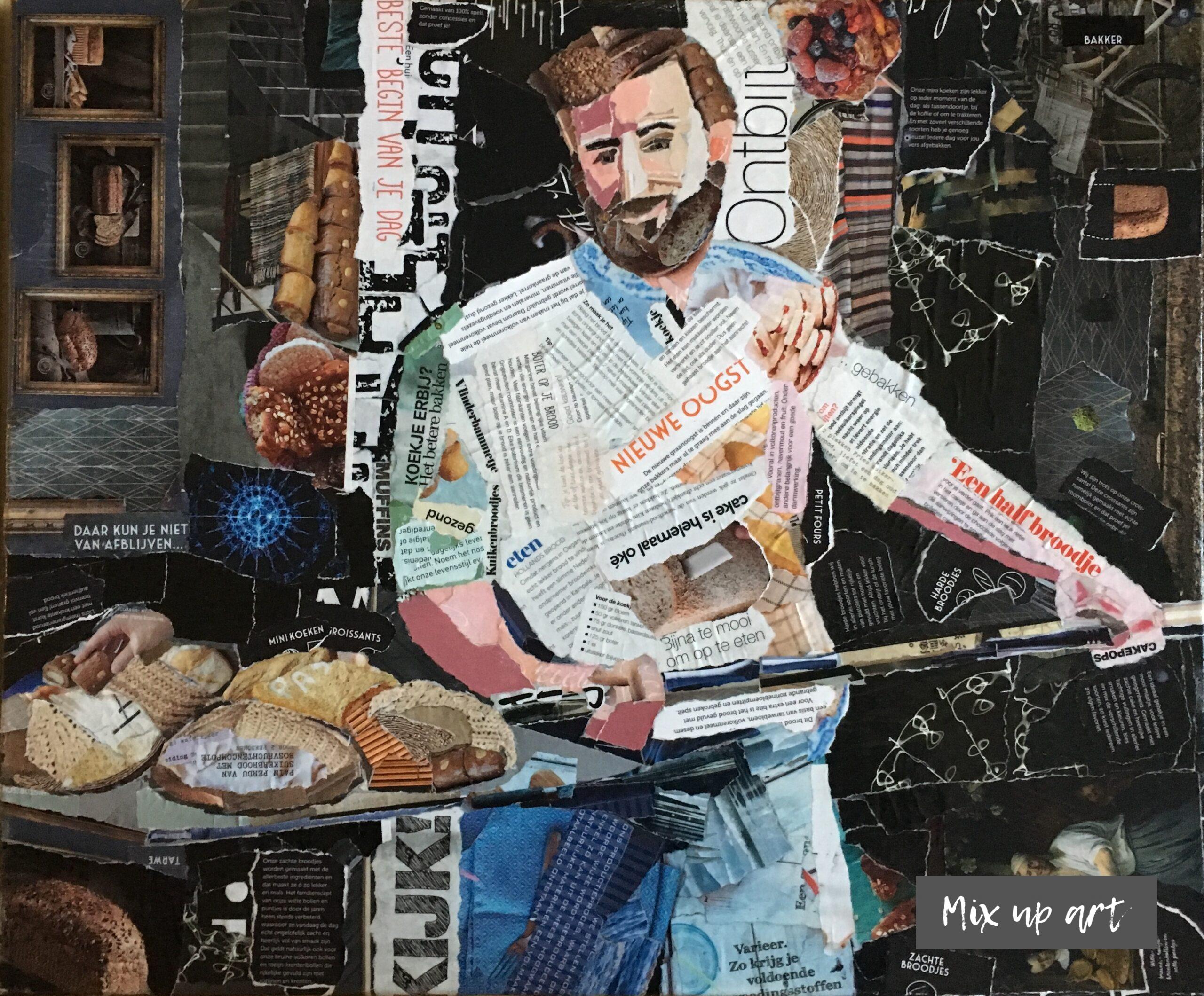 Vers uit de oven - € 650,- Collage (50 x 60)